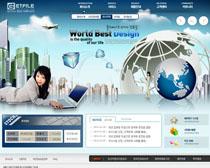发展科技文化网站PSD源文件