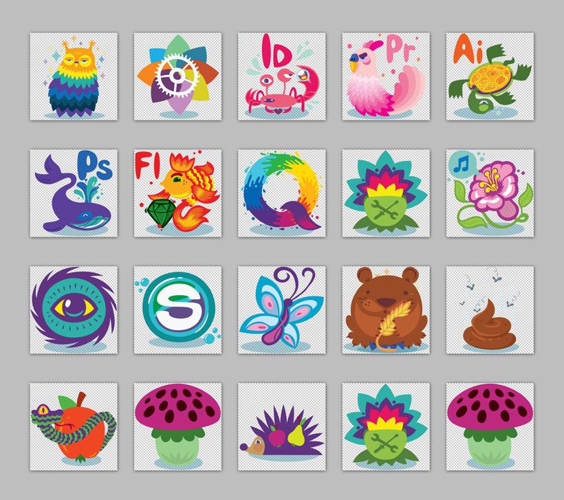 动物与植物png图标 - 爱图网设计图片素材下载