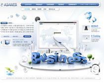 藍色科技數碼網頁設計PSD源文件