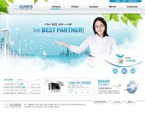 公司推广韩国网站设计PSD模板