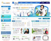 韓國大學網站設計PSD源文件