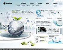 企業科技公司網頁設計PSD源文件