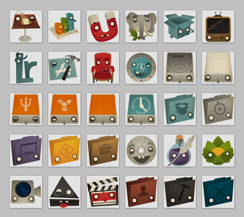 非洲的动物png图标 可爱的公仔玩具png图标 可爱的收音机png图标 卡通
