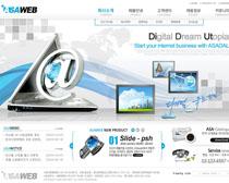 韓國E網公司網頁設計PSD源文件