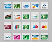 各种银行信用卡PNG图标