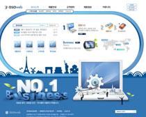 科技发展蓝色网站PSD源文件