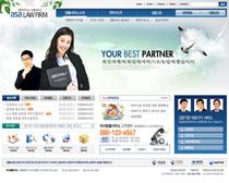 韩国人物形像网页PSD源文件
