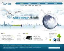 韩国公司形像网站设计PSD源文件