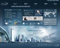 网络科技公司网站PSD源文件