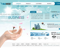 未來發展藍色網站PSD源文件