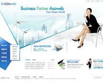 公司辦公網站設計PSD源文件
