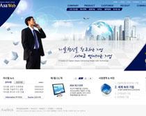 韓國公司大廈網站PSD源文件