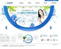 韩国公司清新网站设计PSD源文件