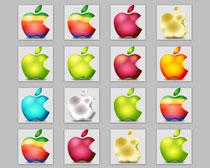 高清多彩苹果标志PNG图标