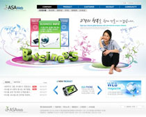 科技文化公司网站PSD源文件