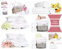 毛巾花朵护理用品摄影高清图片