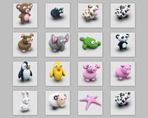高清陶瓷小象和小猪等动物PNG图标