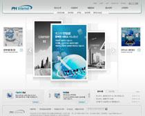 蓝色科技发展网站PSD源文件