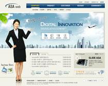 公司指導網站PSD源文件