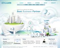 公司企业发展网站PSD源文件