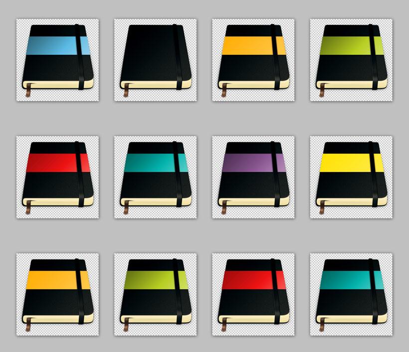 高档黑色皮质笔记本png图标 - 爱图网设计图片素材下载