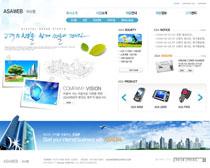 科技数码韩国网站PSD源文件