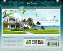 別墅酒店網站PSD源文件