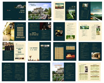 深绿色房地产广告画册设计矢量素材