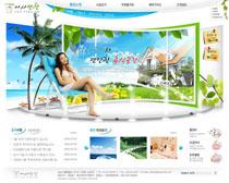 酒店別墅建筑風景網站PSD源文件