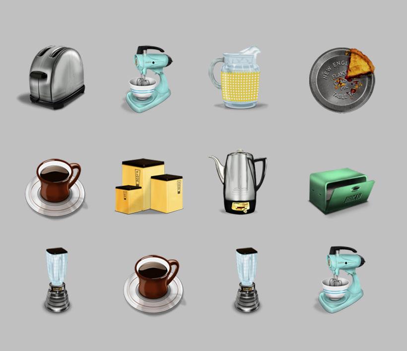 咖啡机和热水壶png图标
