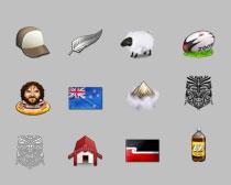 新西兰生活元素PNG图标