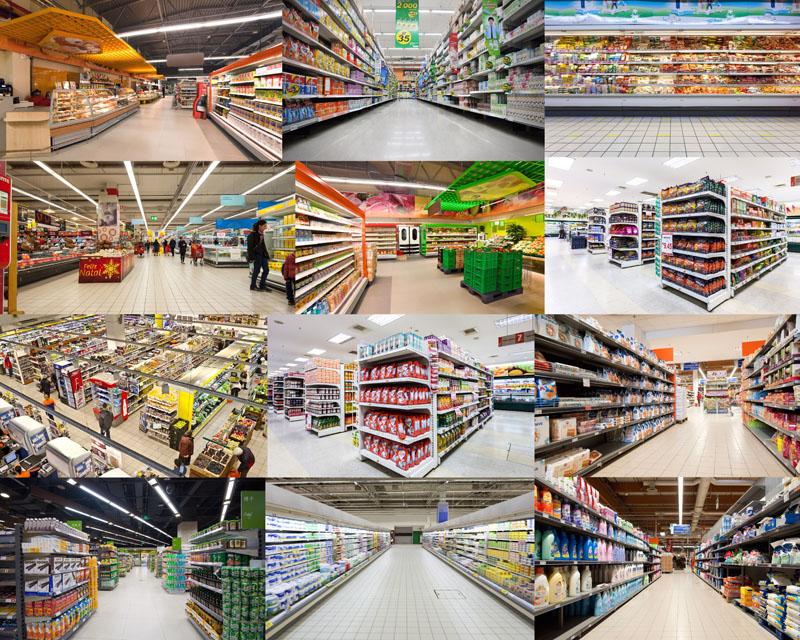 超市布置陈列摄影高清图片