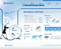 企業藍色商務網站PSD源文件