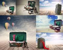 行李箱摄影高清图片