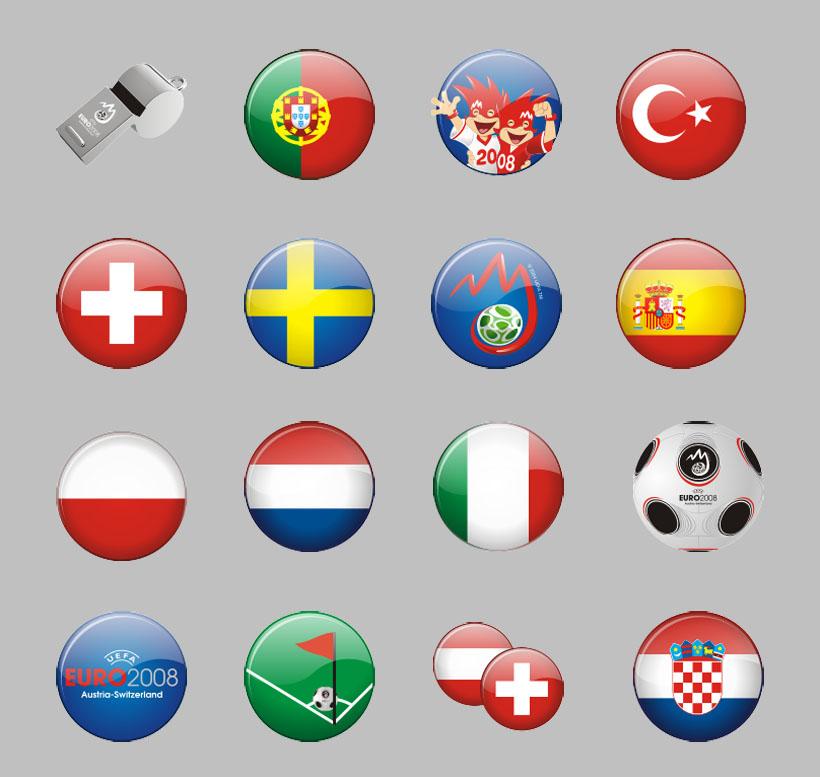 世界各国圆形风格国旗png图标