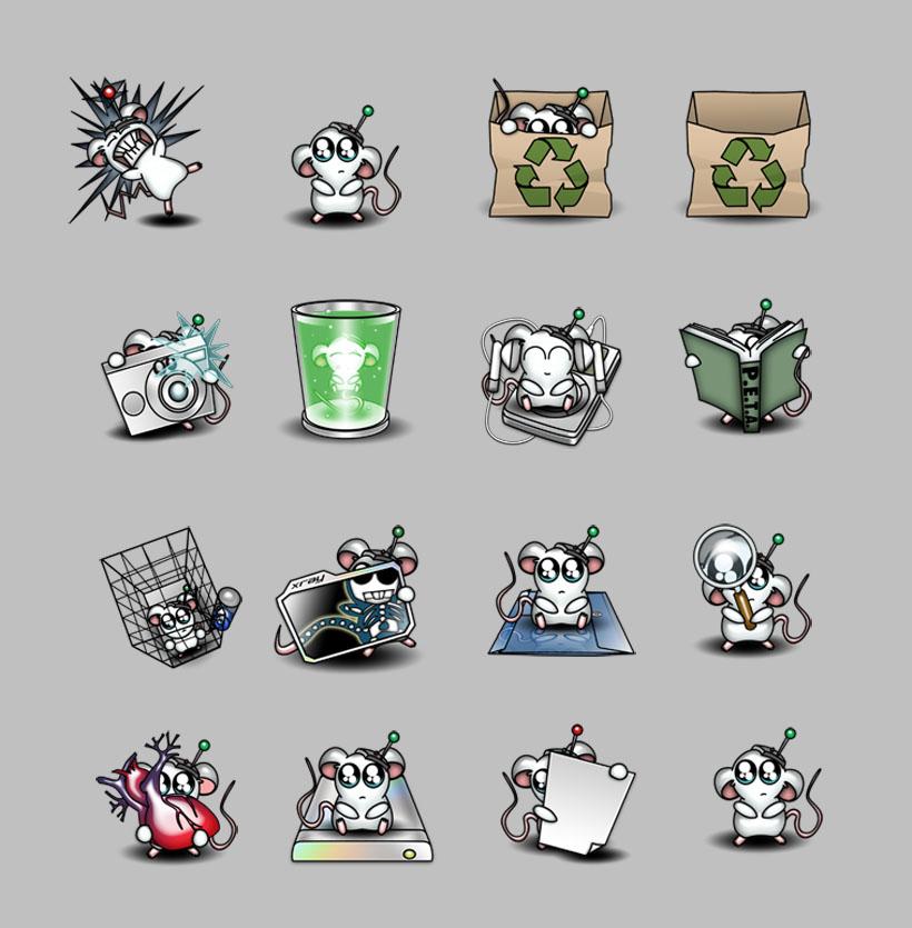 卡通小老鼠png图标 - 爱图网设计图片素材下载