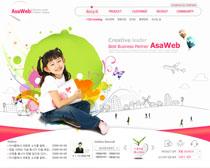 韩国儿童教学网站PSD源文件