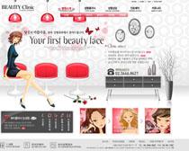 韩国化妆卡通网站设计PSD源文件