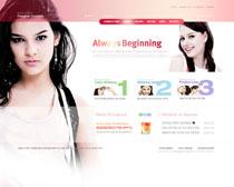 女性化妝品網站PSD源文件