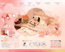 韩国家具网站设计PSD源文件