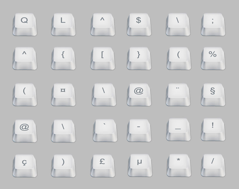 白色键盘按键png图标