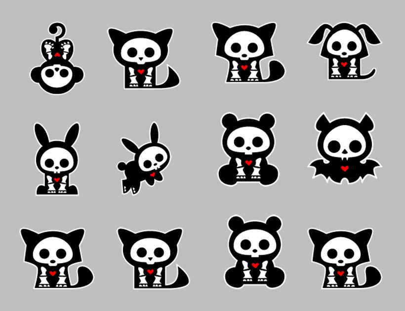 黑色的卡通小动物png图标
