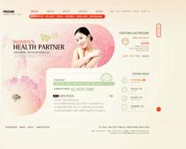 女性美容网站设计PSD源文件