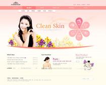 化妆女性网站设计PSD源文件