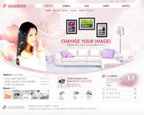 女性瘦身网站设计PSD源文件
