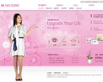 女子整形网站设计PSD源文件