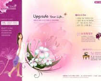 粉色背景女性美容网站PSD源文件