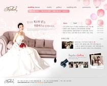 韩国婚庆公司网站PSD源文件