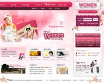 韩国宝宝摄影网站PSD源文件