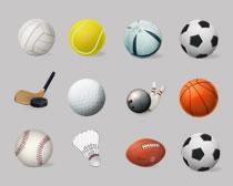 足球和篮球PNG图标